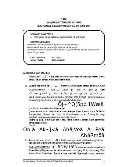 Bacaan Al Qamariyah : bacaan, qamariyah, Alquran, Syamsiyah, Qomariyah1