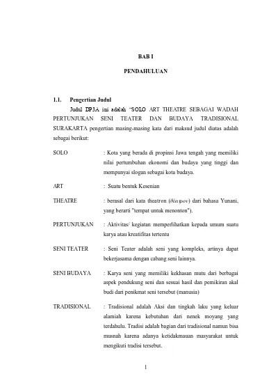 Teater Tradisional Jawa Tengah : teater, tradisional, tengah, GEDUNG, PERTUNJUKAN, TEATER, TRADISIONAL, SURABAYA, Sidharta, EDimensi, Arsitektur, Petra