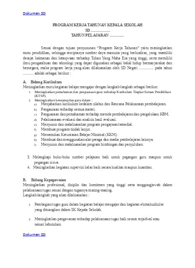 Program Kerja Kepala Sekolah Smp 2018 Doc : program, kerja, kepala, sekolah, PROGRAM, KERJA, KEPALA, SEKOLAH, TAHUNAN