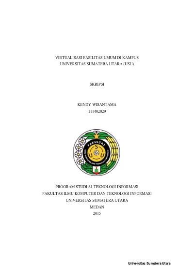 Departement of biology 2 people. Virtualisasi Fasilitas Umum Di Kampus Universitas Sumatera Utara Usu