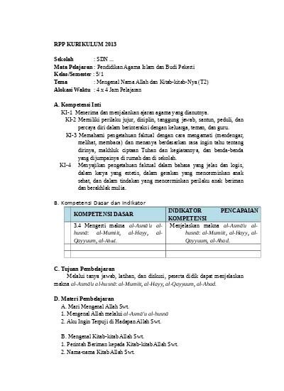Prota Dan Promes Kurikulum 2013 Sd/mi Kelas 2 Revisi 2017 : prota, promes, kurikulum, sd/mi, kelas, revisi, Silabus, Prota, Promes, Kelas, Kurikulum, Revisi