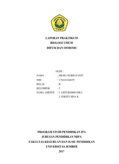 Laporan Praktikum Difusi Dan Osmosis : laporan, praktikum, difusi, osmosis, LAPORAN, PRAKTIKUM, BIOLOGI, DIFUSI