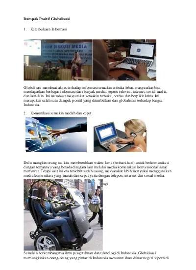 Globalisasi Bidang Iptek : globalisasi, bidang, iptek, Dampak, Positif, Globalisasi, Dalam, Bidang