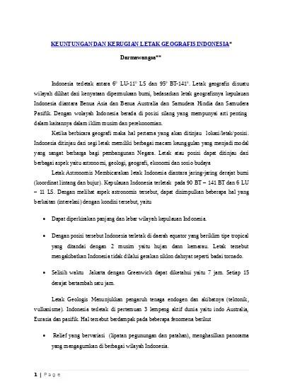 Keuntungan Dan Kerugian Letak Geologis Indonesia : keuntungan, kerugian, letak, geologis, indonesia, KEUNTUNGAN, KERUGIAN, LETAK, GEOGRAFIS