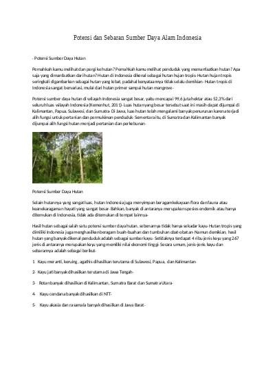 Peta Persebaran Hutan Mangrove Di Indonesia : persebaran, hutan, mangrove, indonesia, Potensi, Persebaran, Sumber