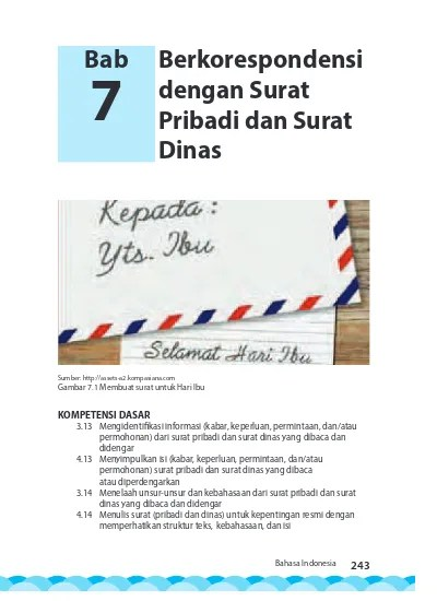 Surat Resmi Dan Surat Pribadi : surat, resmi, pribadi, Berkorespondensi, Dengan, Surat, Pribadi, Dinas