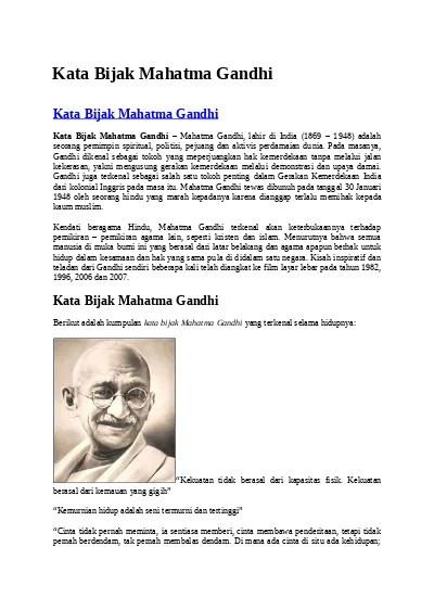 Kata Kata Bijak Mahatma Gandhi : bijak, mahatma, gandhi, Bijak, Mahatma, Gandhi