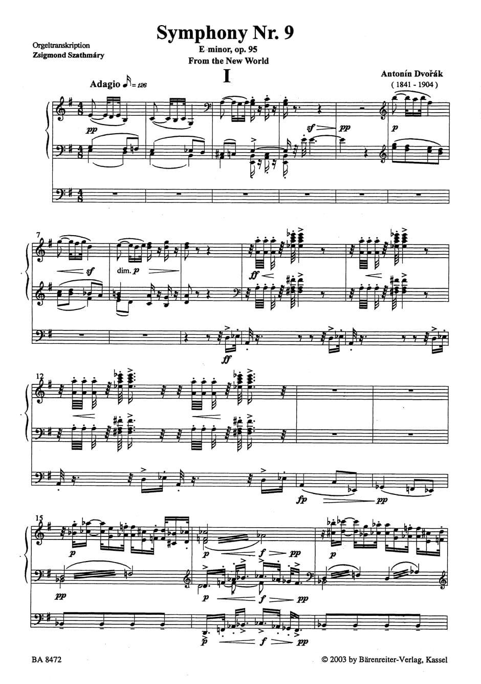 La Symphonie Du Nouveau Monde : symphonie, nouveau, monde, Symphonie, Nouveau, Monde, DVORAK, Laflutedepan.com