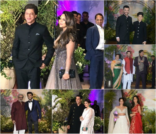 Image result for salman shahrukh in sonam kapoor reception