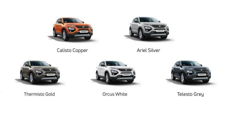 Tata Harrier SUV; variants, features, colors, engine specs