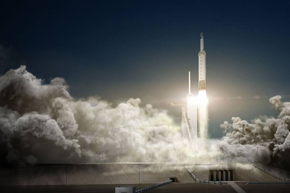 Car In Space Wallpaper Elon Musk Spacex Falcon Heavy Rocket To Be Launched This November