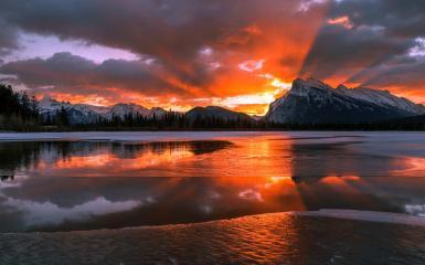 Wallpaper Hd For Windows 10 Free Download Wallpaper Lac Bow En Alberta Canada Hd 233 Cran Large