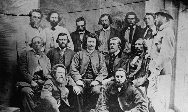 Members of the Métis Nation Provisional Government , 1870.