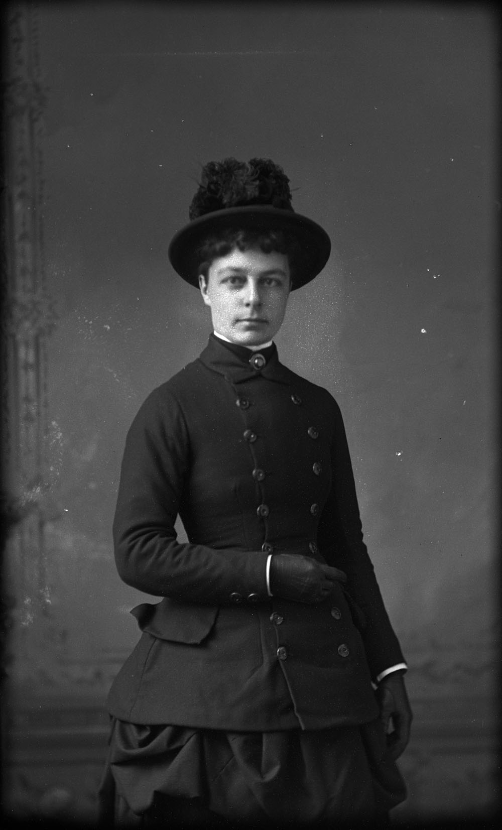 canadian victorian woman in black jacket