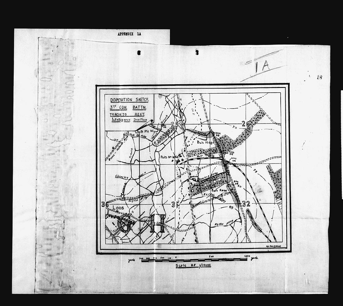 3rd Bn War Diaries 1917 The Queens Own Rifles Of Canada Dean Pickup Wiring Diagram August 15th And 16th Mazingarbe 17th 18th Close Support 19th 20th Front Line 21st
