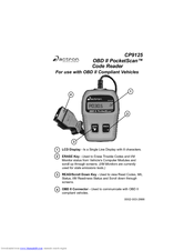 Actron OBD II PocketScan Code Reader CP9125 Manuals