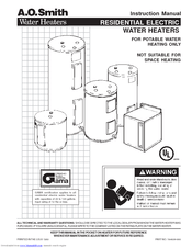 A. O. Smith Commercial gas water heaters Manuals