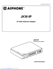 Aiphone JKW-IP Manuals