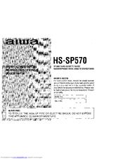 Aiwa HS-SP570 Manuals