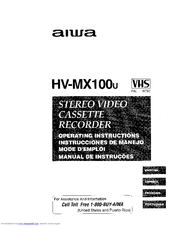 Aiwa HV-MX100 Manuals