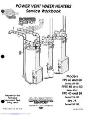 A.o. Smith FPS40 Manuals