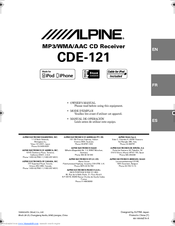 Alpine CDE-121 Manuals