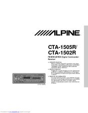 Alpine CTA-1502R Manuals