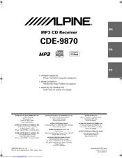 Alpine CDE-9870 Manuals