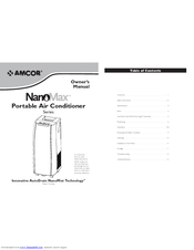 Amcor NanoMax Portable Air Conditioner Manuals