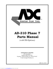 American Dryer Corp. AD-310 Manuals