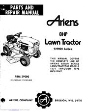 Ariens 929002 Manuals