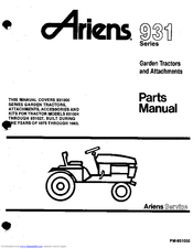 Ariens 931 Manuals