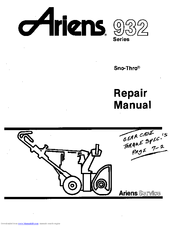 Ariens SNO-THRO 932 Manuals