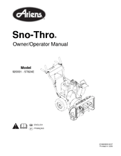 Ariens Sno-Thro 920001- ST624E Manuals