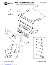 Maytag MEDZ600TB Manuals