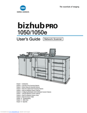 Konica Minolta bizhub PRO 1050e Series Manuals