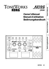 Korg ToneWorks AX10G Manuals