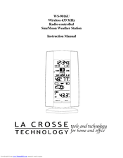 La Crosse Technology WS-9016U Manuals