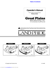 Land Pride RC25 Series Manuals