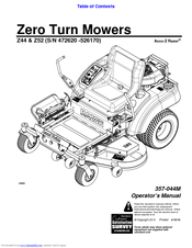 Land Pride Z52 Accu-Z Razor Manuals