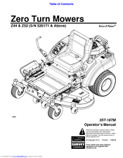 Land Pride Z52 Accu-Z Razor Manuals