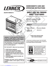 Lennox Hearth Products MPD35ST-NM Manuals