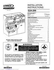Lennox G24-200 Manuals