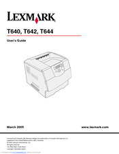 Lexmark T640 series Manuals