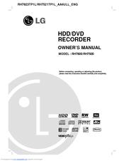 Lg RH7800 Manuals