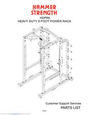 Hammer Strength HDPR8 Manuals