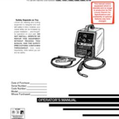 Lincoln Electric Welder Parts Diagram 1986 Porsche 911 Wiring Sp 125 Plus Manuals Operator S Manual