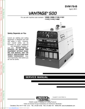 Lincoln Electric AIR VANTAGE 500 Manuals