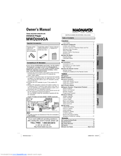 Magnavox MWD200GA Manuals