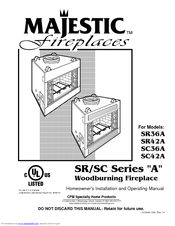 Majestic Fireplaces Sovereign SR42A Manuals